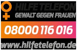Hilfetelefon Gewalt gegen Frauen Logo